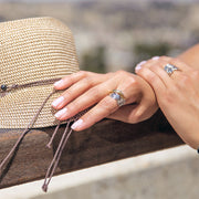 Sterling Silver Highway Statement Ring - Available in Sterling Silver or Two Tone  - Paz Creations Jewelry