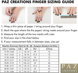 ring sizing guide paz creations