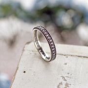 Sterling Silver Eternity Band Promise Ring with White Topaz - Paz Boutique  - Paz Creations Jewelry