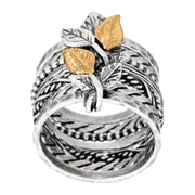 Sterling Silver Two-Tone Ring  - Paz Creations Jewelry