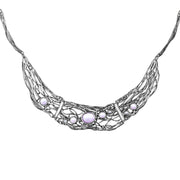 ♥925 Sterling Silver Amethyst or Blue Topaz Statement Necklace - Paz Creations