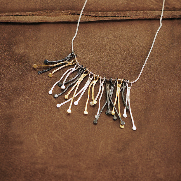 Sterling Silver Branch Statement Necklace - Paz Creations