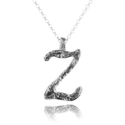 Silver Initial Pendant Necklaces - Personalized - Paz Creations