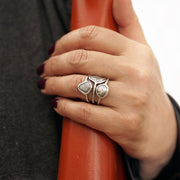 Sterling Silver Multi-Row Oxidized Ring  - Paz Creations Jewelry