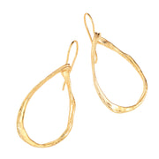 14K Gold Plated Earrings - Gold over Sterling Silver - Pear Shaped  - Paz Creations Jewelry