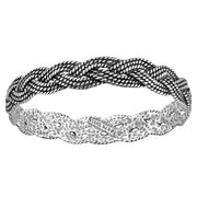 Sterling Silver Braided Bangle  - Paz Creations Jewelry