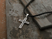 Sterling Silver Filigree Cross Pendant Necklace -  for Men  - Paz Creations Jewelry