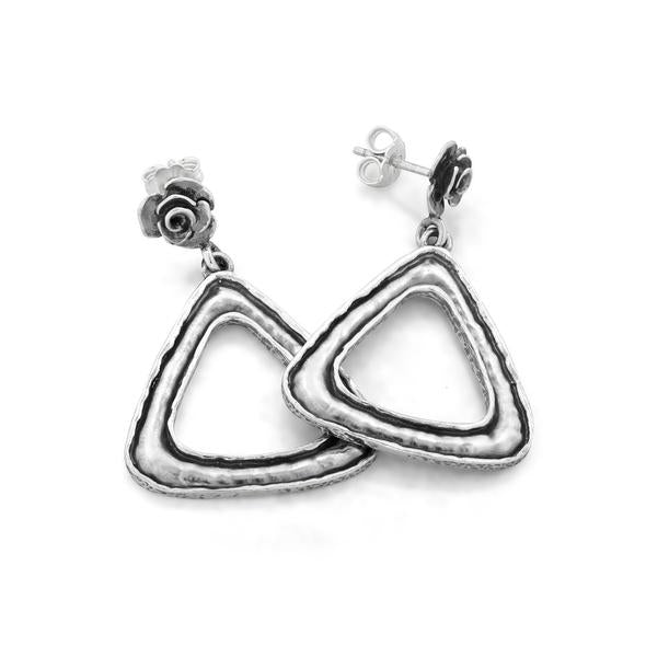 Sterling Silver Geometric Earrings  - Paz Creations Jewelry