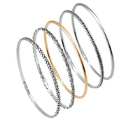 Sterling Silver and 14K Gold Plated Bangles  - Paz Creations Jewelry