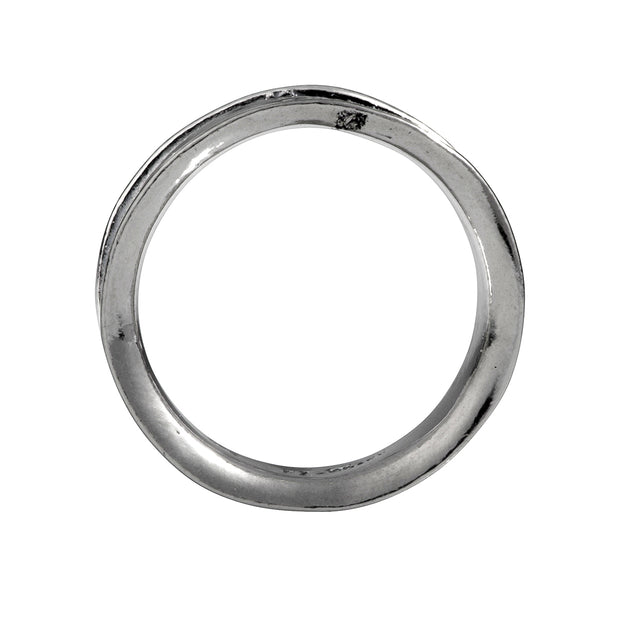 PZ Paz Creations 925 Sterling Silver Ring for Men | Hammered Band Organic Design | Hypoallegenic Made in Israel  - Paz Creations Jewelry