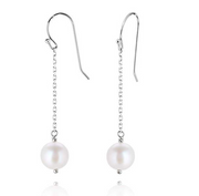 Sterling Silver Dangle & Drop Pearl Earrings  - Paz Creations Jewelry