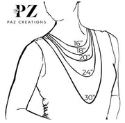 Sterling Silver Openwork Gemstone Necklace  - Paz Creations Jewelry