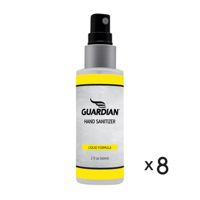 Guardian Polyarmor liquid Hand Sanitizer 2oz 8 pack 80% alcohol