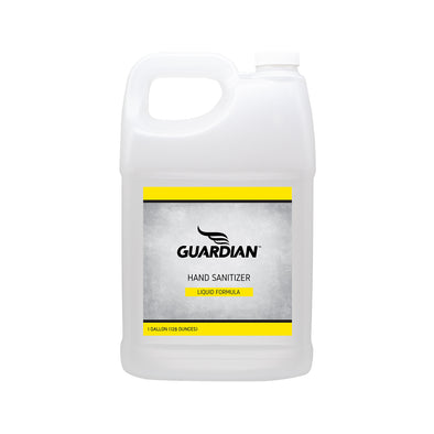 Guardian Polyarmor liquid Hand Sanitizer refill bottle half gallon 80% alcohol