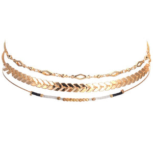 Gold Chain Choker Set (3pc.)