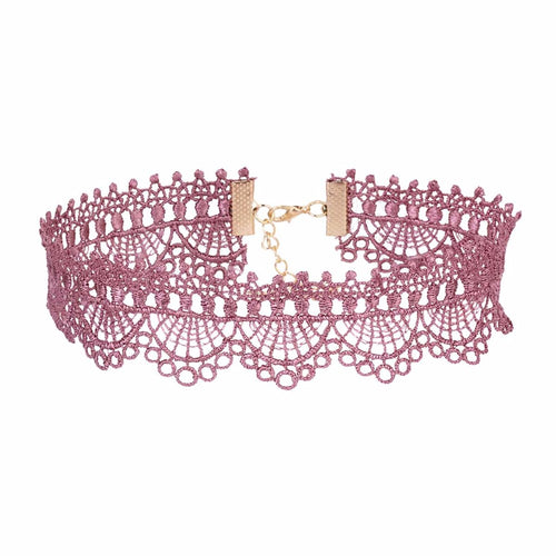 Light Pink Crochet Choker