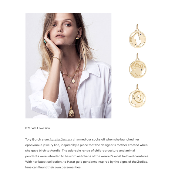 Tory Burch Aurelia Demark Horoscope