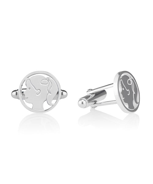 Girl with Ponytail Cufflink