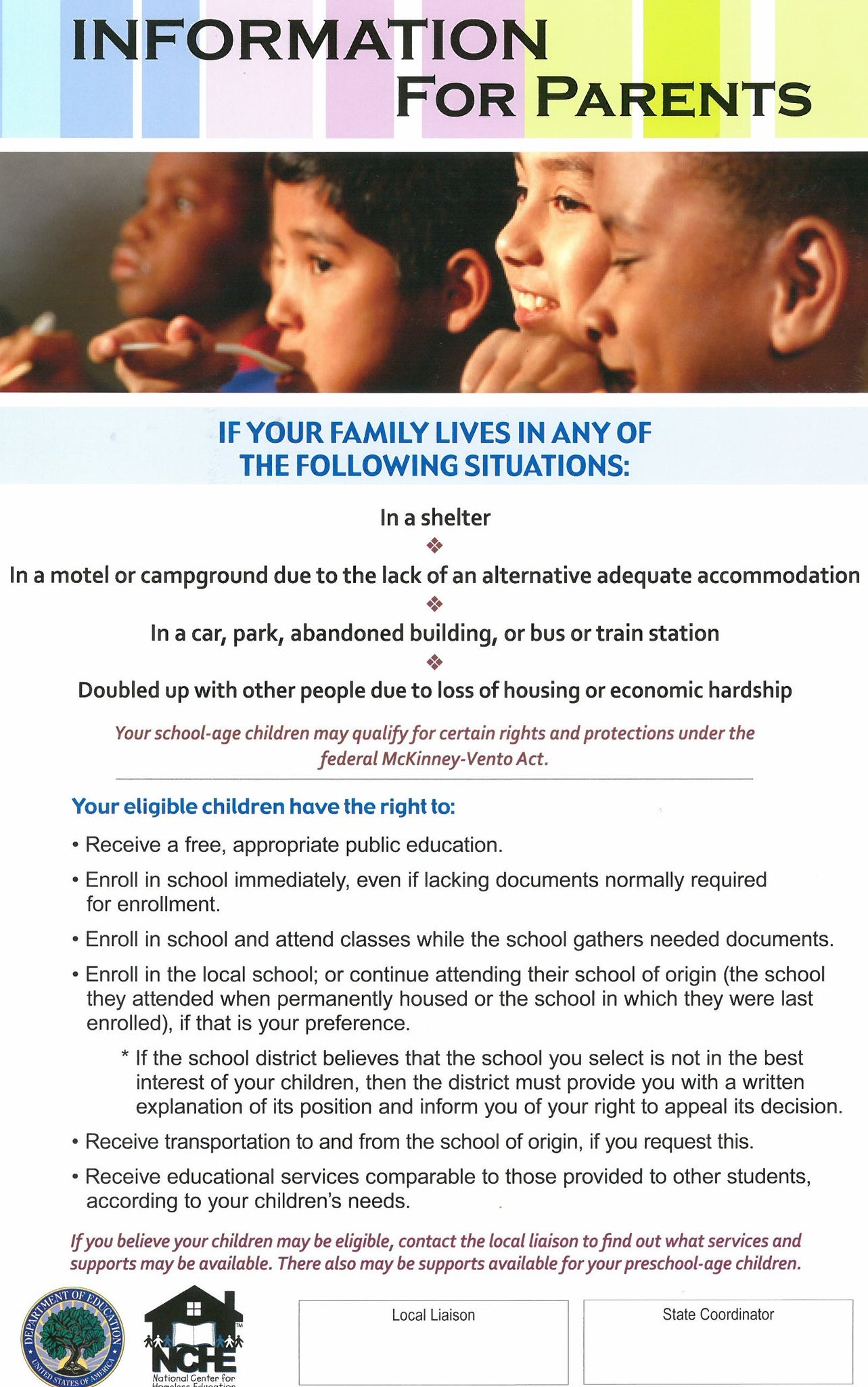Educational Rights Poster for Parents