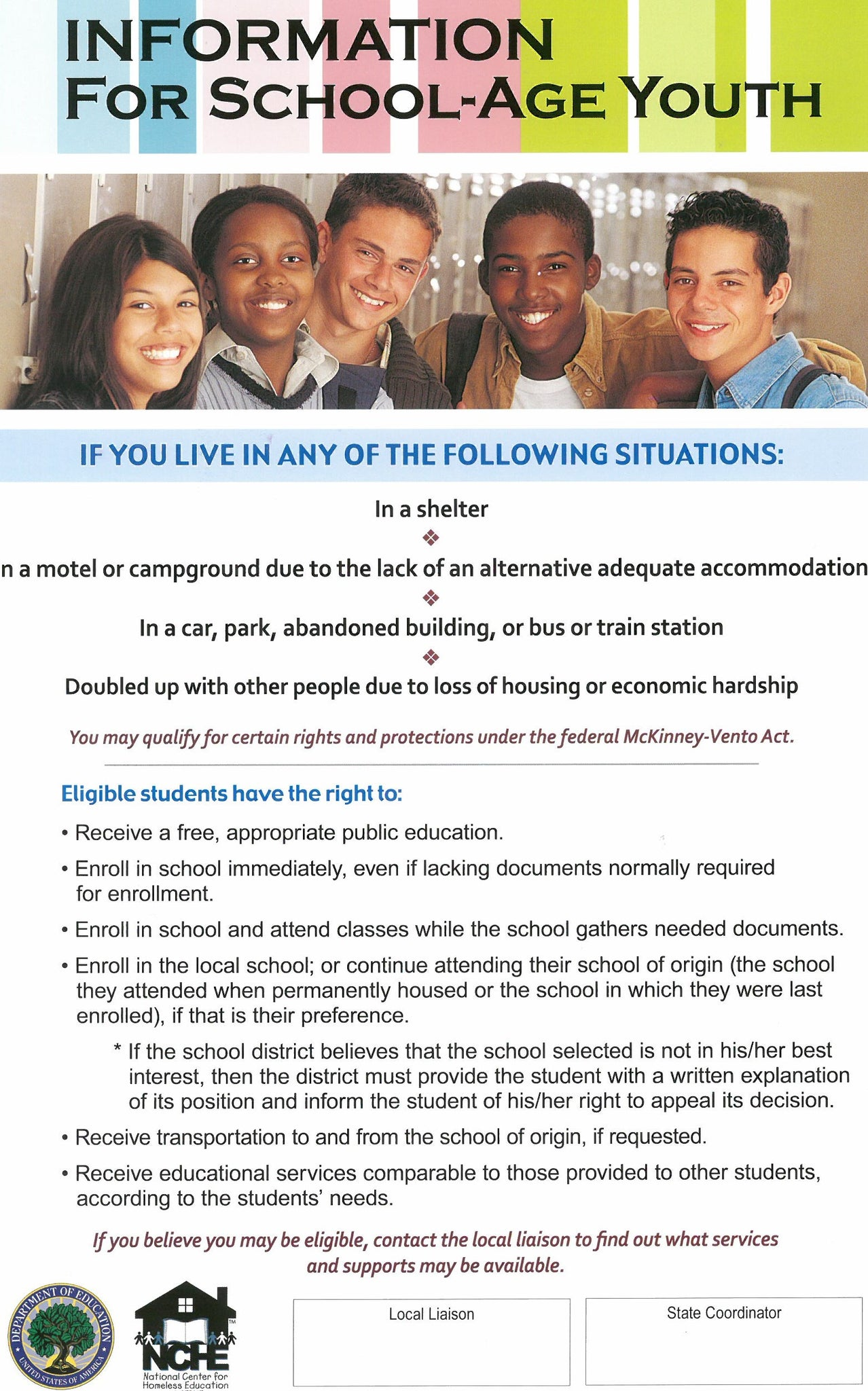 Educational Rights Poster for Youth