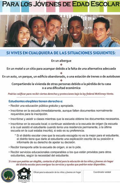 Educational Rights Poster for Youth (Spanish)