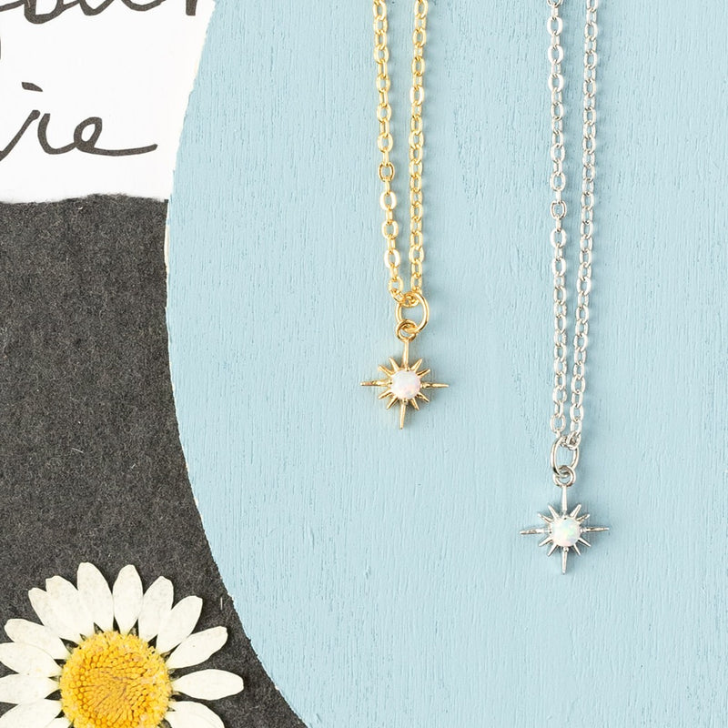 Opal Mini Star Necklace