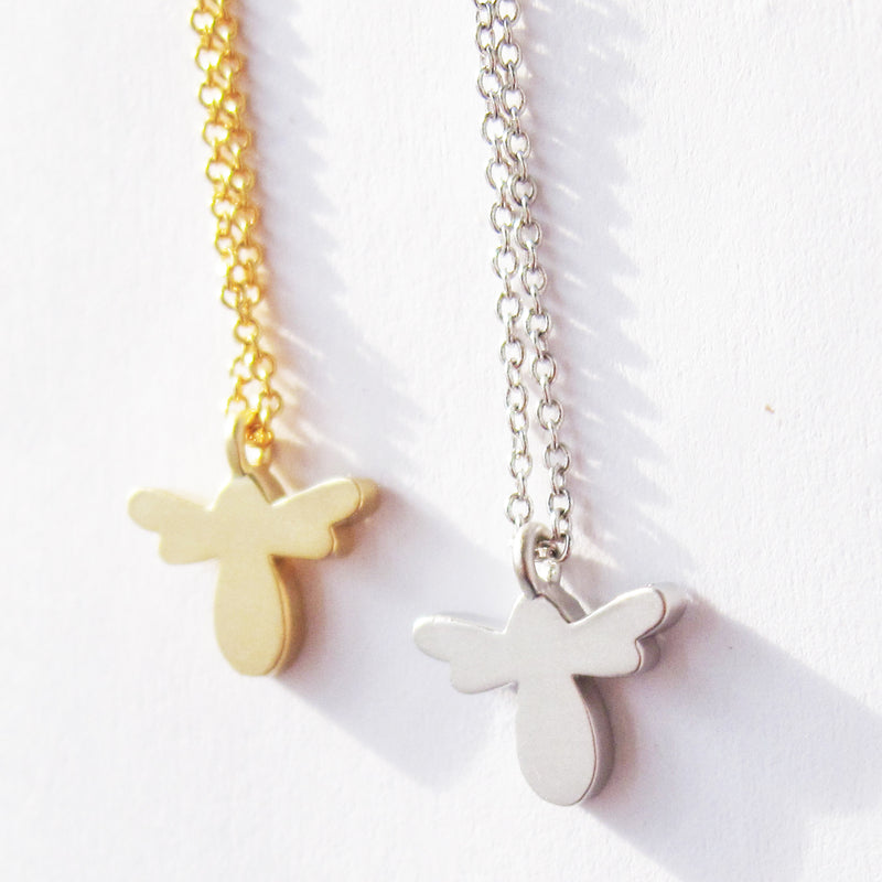 Mini Bee Shillouette Necklace.jpg