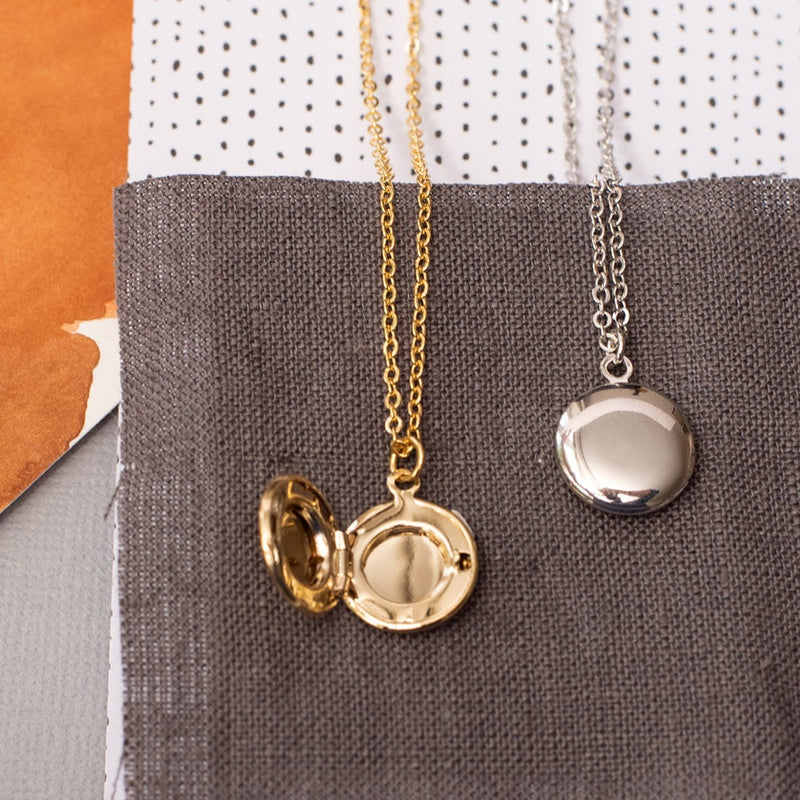 Circle Locket Necklace