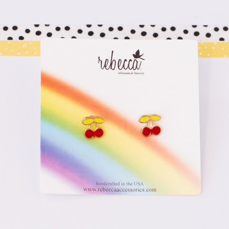 Cherry Post Earrings