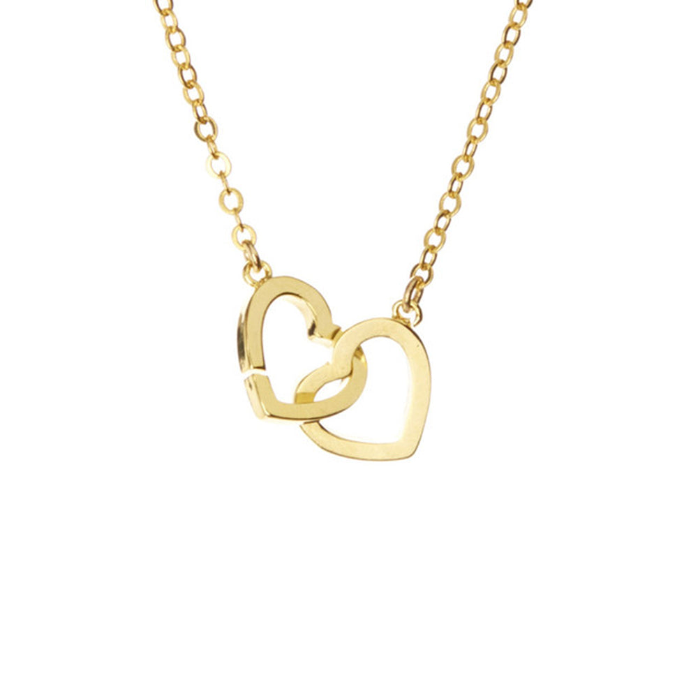 pendant white heart diamond necklace double gold context p beaverbrooks large