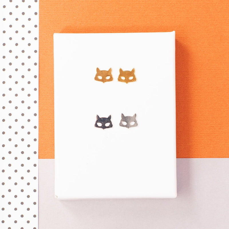 Fox Face Post Earrings