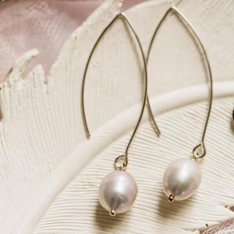 Pearl Thread Through Earring Wholesale