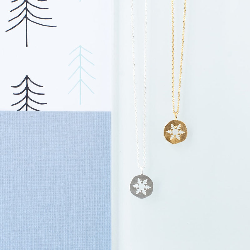 Snowflake Cut Out Necklace