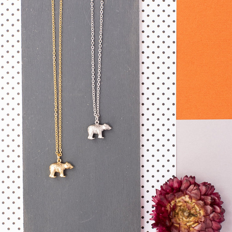 Bear Standing Necklace