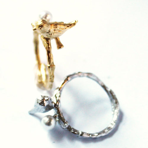 Bird with Pearl Ring