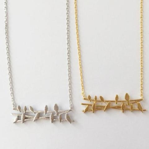 Birds on a Wire Necklace