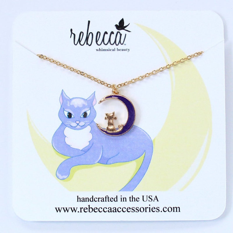 Cat on the Moon Necklace Wholesale