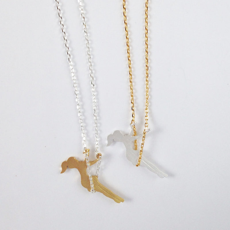 Girl Swinging Necklace Wholesale