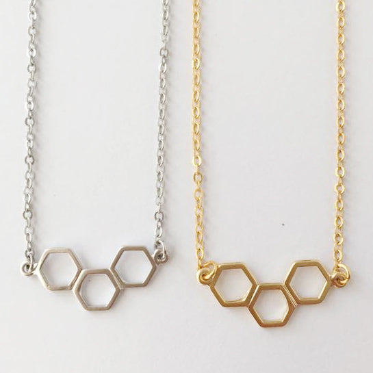 Hexagon Link Necklace Wholesale