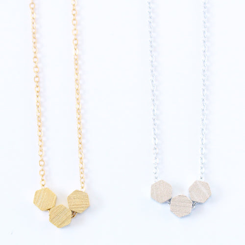 Hexagon Three Necklace