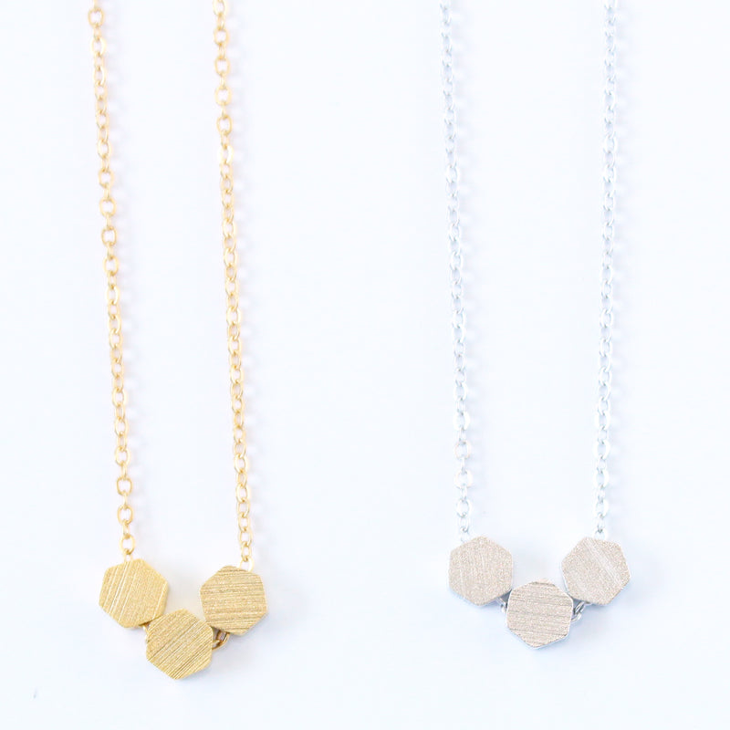 Hexagon Three Necklace Wholesale