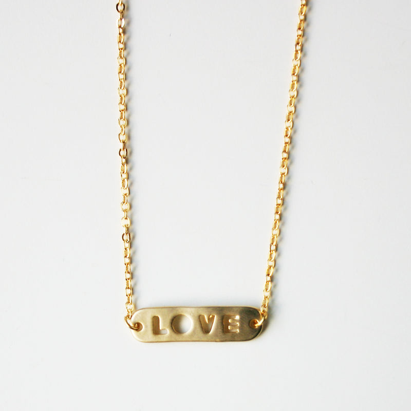 Love Banner Necklace Wholesale
