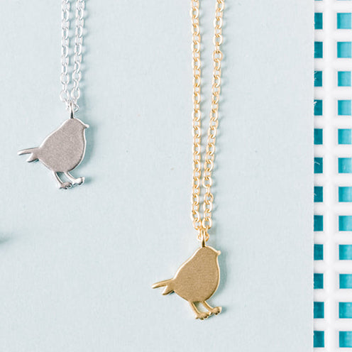 Perched Bird Necklace