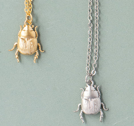 Japanese Beetle Necklace