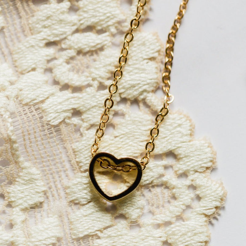 Heart Cut Out Necklace Wholesale