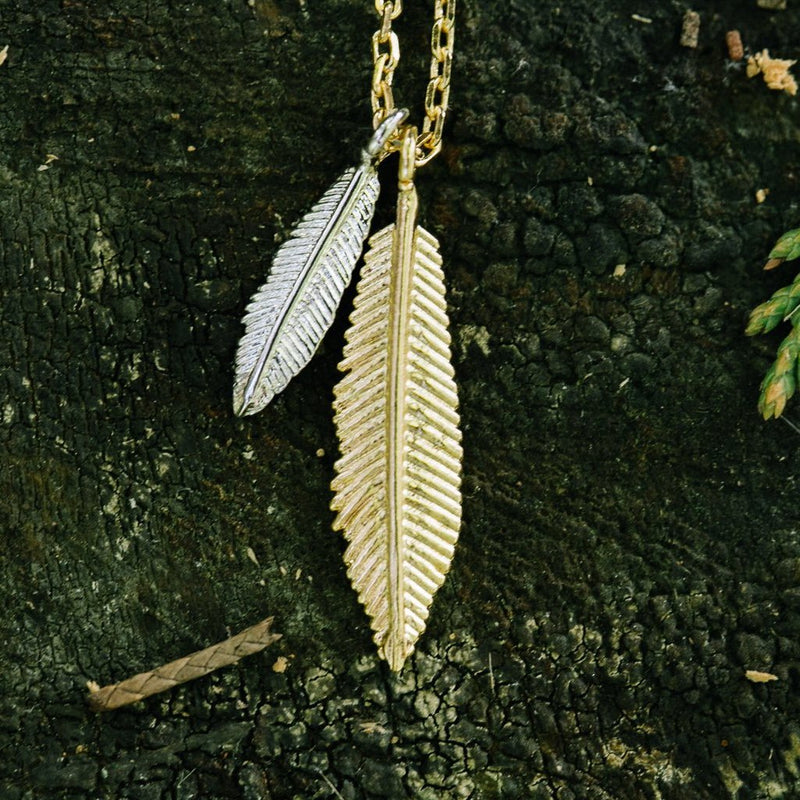Double Feather Necklace Wholesale