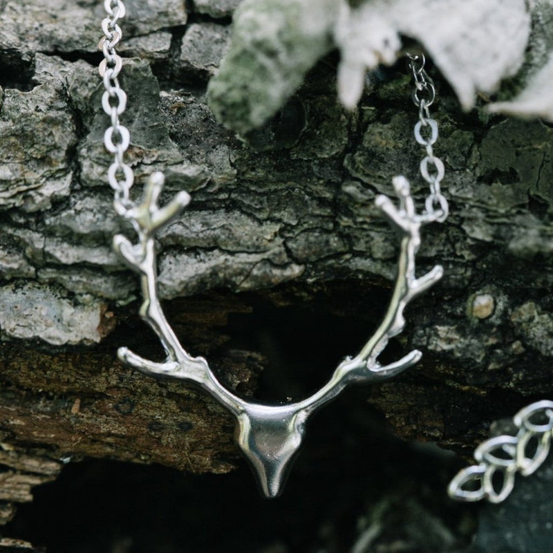 Deer Bust Necklace