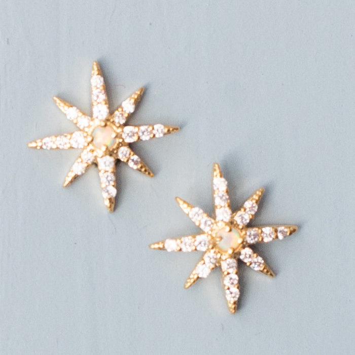 Burst CZ Post Earrings