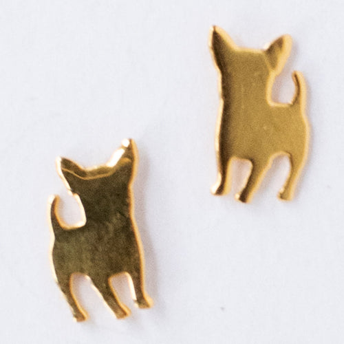 Chihuahua Post Earrings