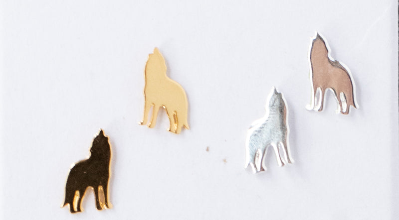 Wolf Post Earrings